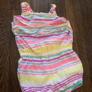 Carters 9 Month bright color striped body suit New